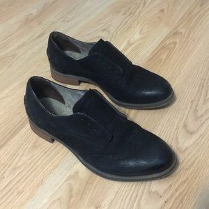 Sperry top sider black oxford flats